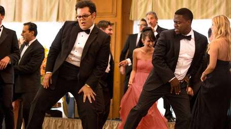 Josh Gad, left, as Doug, and Kevin Hart,
