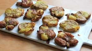 Smash roasted potatoes.