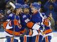 Nikolay Kulemin of the New York Islanders celebrates