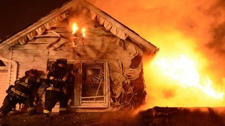 A fire heavily damaged a house Jan. 18,