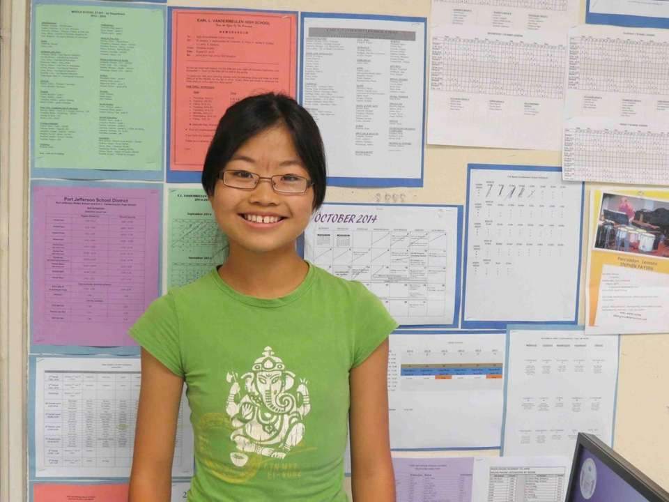 Mayu Takeuchi, 13, an eighth-grader at Port Jefferson