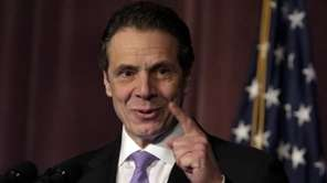 New York Gov. Andrew Cuomo speaks to members