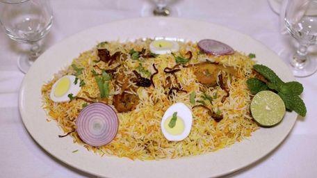 Chicken dhum biryani, a specialty at Hyderabad Spice