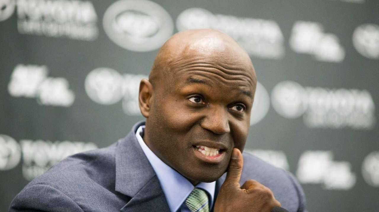 Todd Bowles is shown during a press conference