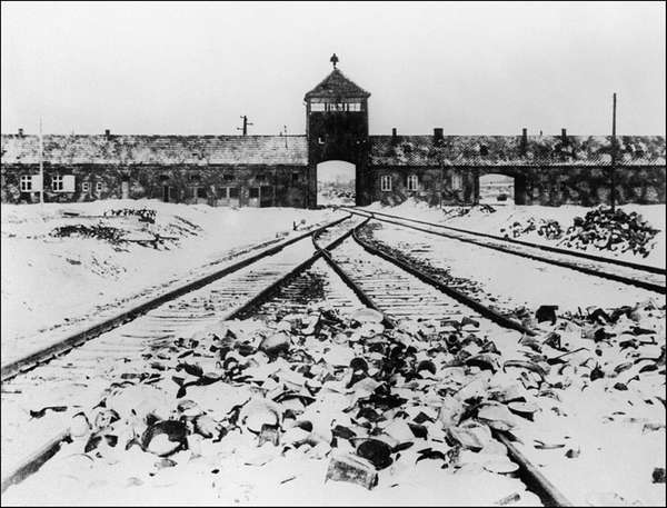 A picture taken in January 1945 depicts the