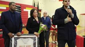 Orlando Magic forward Tobias Harris speaks to fans