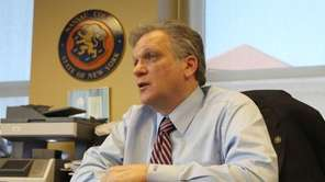Nassau County Executive Edward Mangano at his office