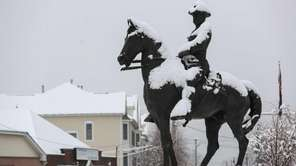 The Theodore Roosevelt Rough Rider statue in Oyster