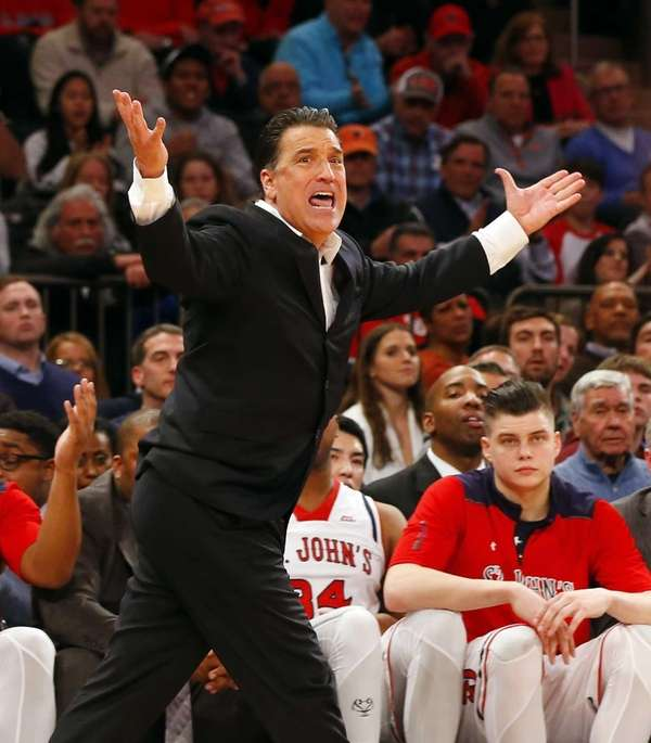 Head coach Steve Lavin of the St. John's