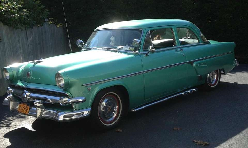 This 1954 Ford Customline two-door sedan has been