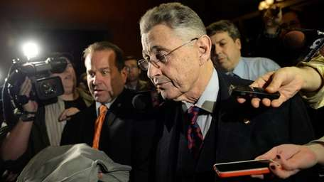 Assembly Speaker Sheldon Silver leaves his office at
