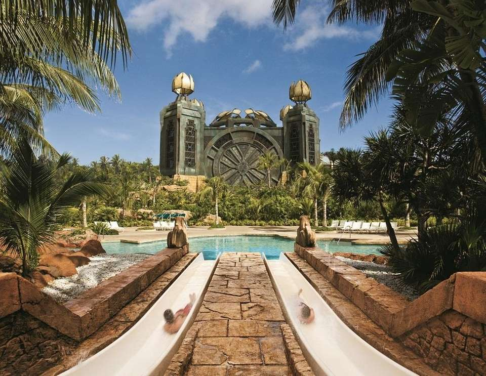 The Atlantis resort on Paradise Island, Bahamas, is