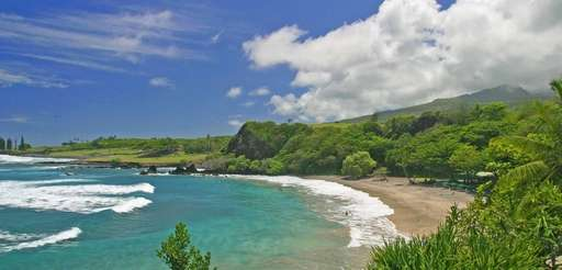 Hamoa Beach in Maui, Hawaii, ranked fifth on