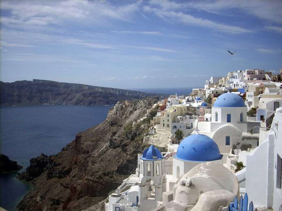 Oia Village is on the popular Greek island