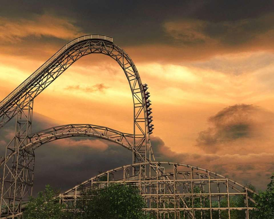 The Goliath, a wooden roller coaster at Six