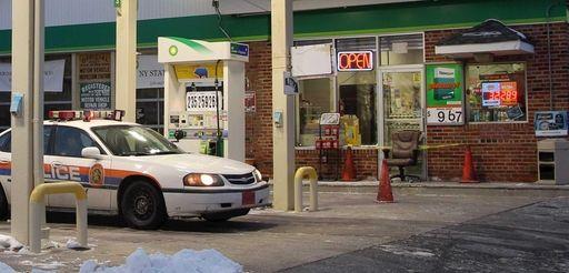 Nassau County police at a crime scene Thursday