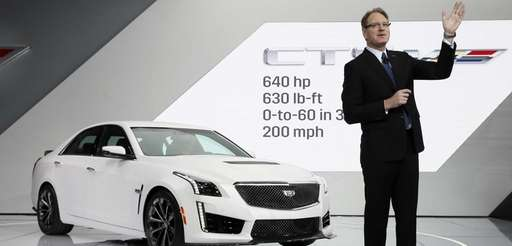 Cadillac president Johan de Nysschen introduces the 2016