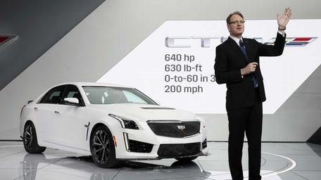 Cadillac president Johan de Nysschen introduces the 2016
