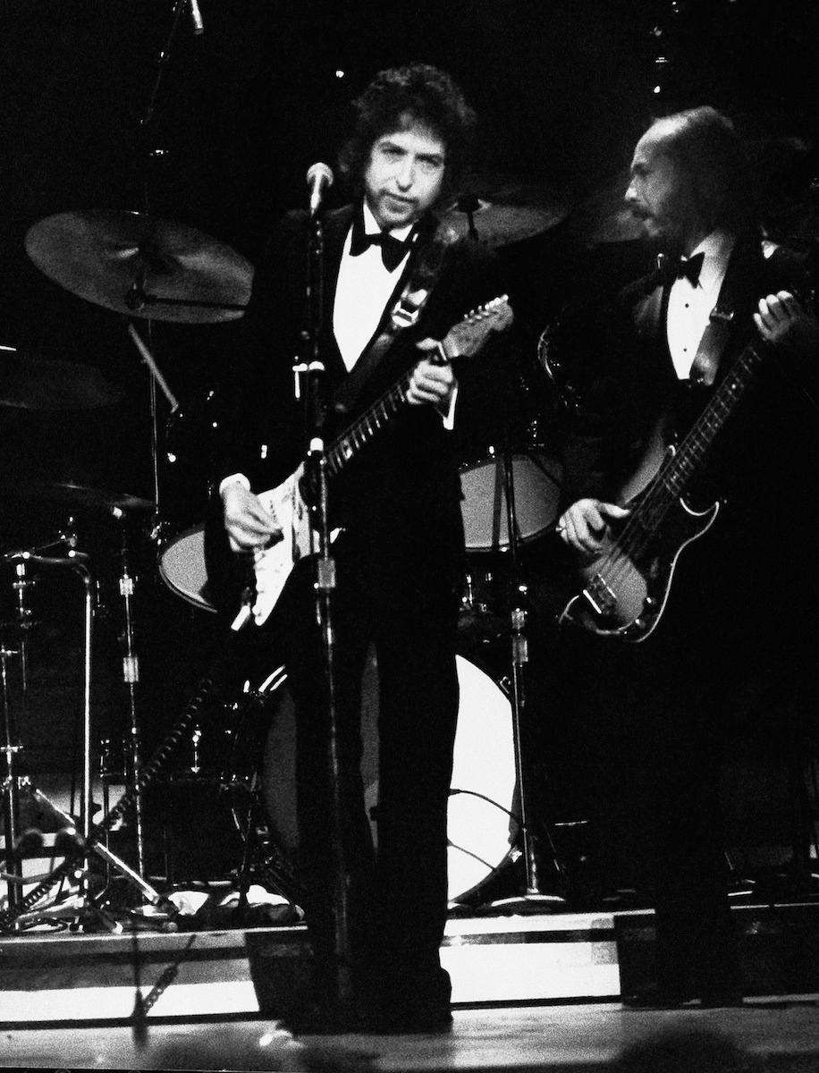 Bob Dylan performs at the Grammy Awards in