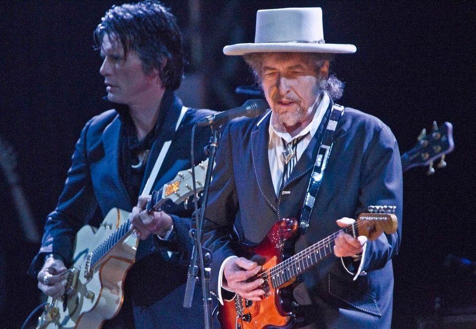 Singer-songwriter Bob Dylan performs on June 18, 2011,