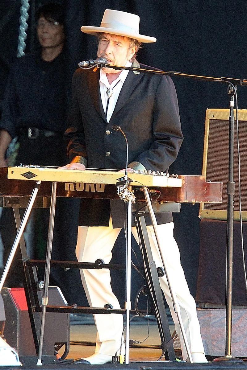 Singer-songwriter Bob Dylan performs July 22, 2012, at