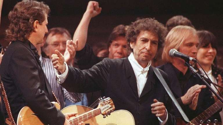 Musician Bob Dylan is joined by other artists