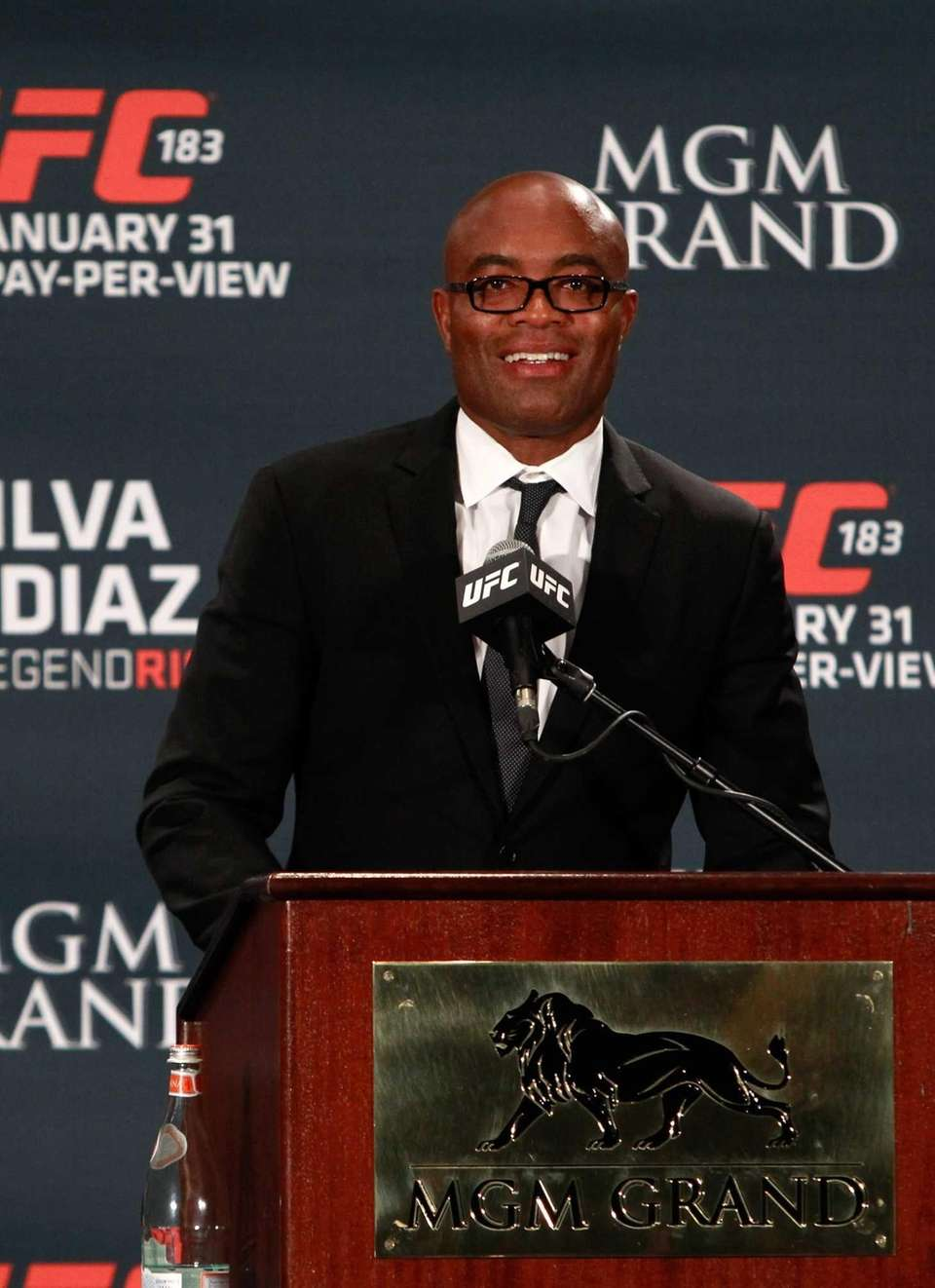 LAS VEGAS, NV - JANUARY 31: Anderson Silva