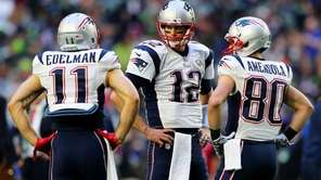 Julian Edelman #11, Tom Brady #12 and Danny