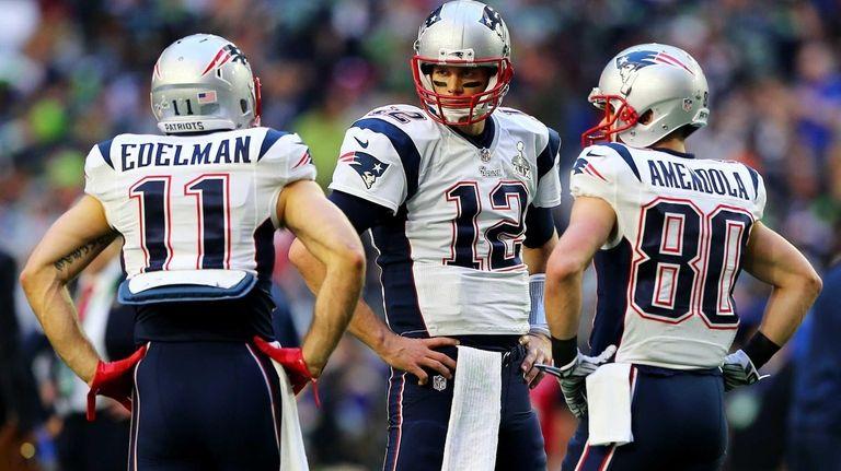 Julian Edelman #11, Tom Brady #12 and Danny