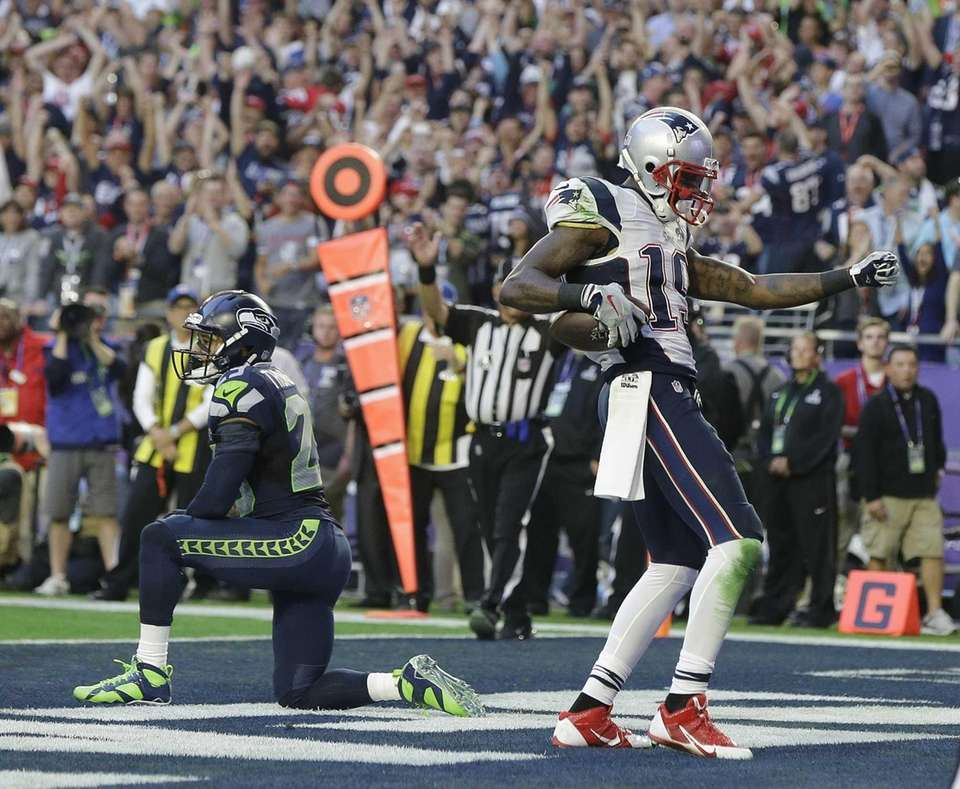 New England Patriots wide receiver Brandon LaFell celebrates