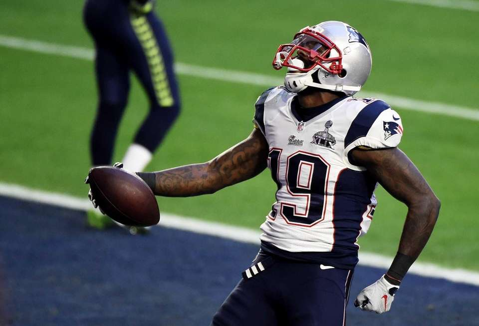 Brandon LaFell of the New England Patriots celebrates
