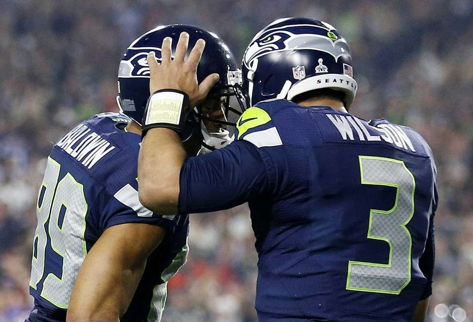 Russell Wilson and Doug Baldwin of the Seattle