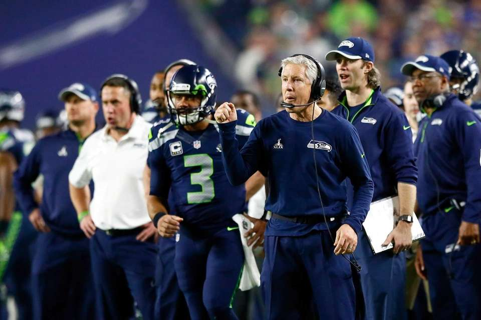 Head coach Pete Carroll of the Seattle Seahawks