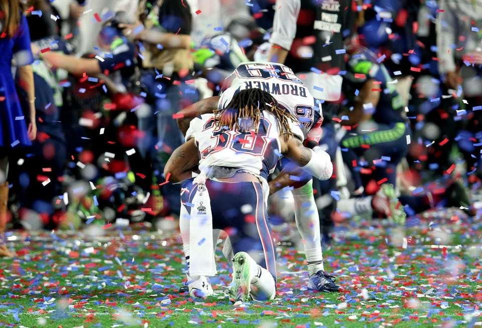 GLENDALE, AZ - FEBRUARY 01: Brandon Bolden #38