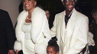 Whitney Houston, Bobby Brown and their daughter, Bobbi