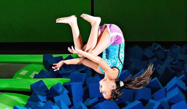 Bounce! Trampoline Sports in Syosset is an indoor