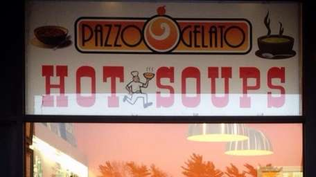 Pazzo Gelato in Garden City Park serves soup.