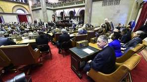 Assemblyman Sheldon Silver sits in his new seat