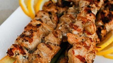 Chicken souvlaki at the new Yummy Gyro in