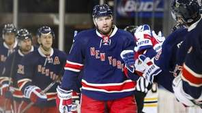 Rick Nash of the New York Rangers celebrates