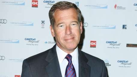 Brian Williams at the Cantor Fitzgerald Charity Day