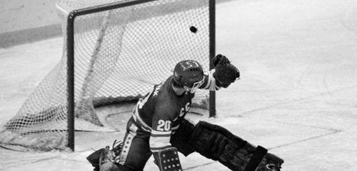 In this 1980 file photo, Soviet goalie Vladislav