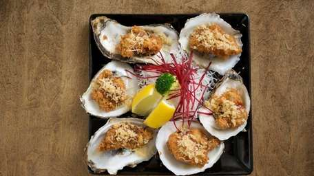 Fried Blue Point oysters are a flavorful appetizer