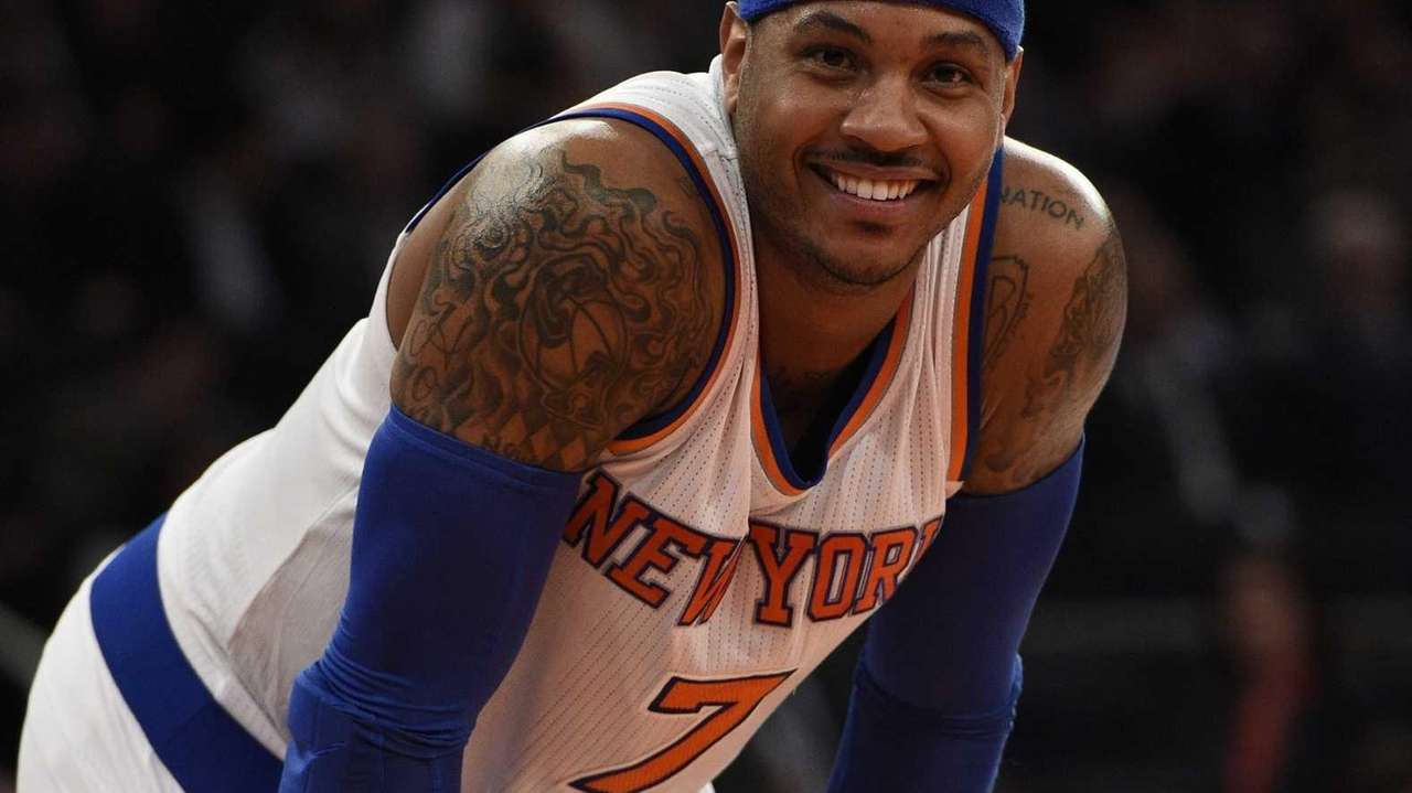 New York Knicks forward Carmelo Anthony against the