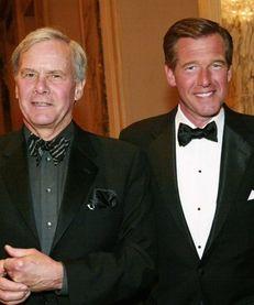 NBC News anchors Tom Brokaw, left, and Brian