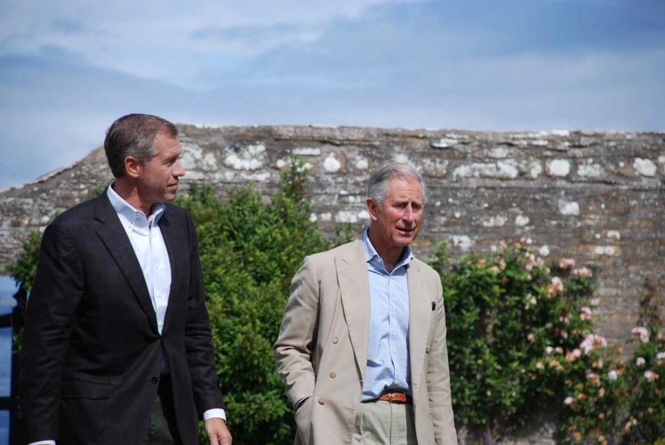 NBC anchor Brian Williams interviews Prince Charles in