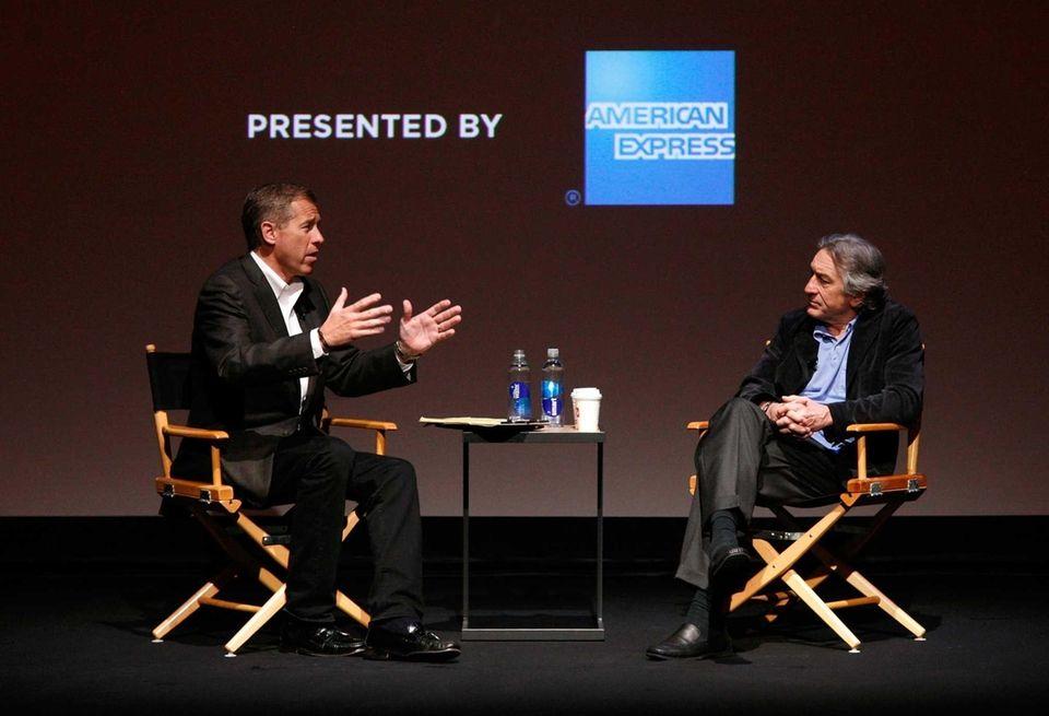 NBC anchor Brian Williams interviews Robert De Niro