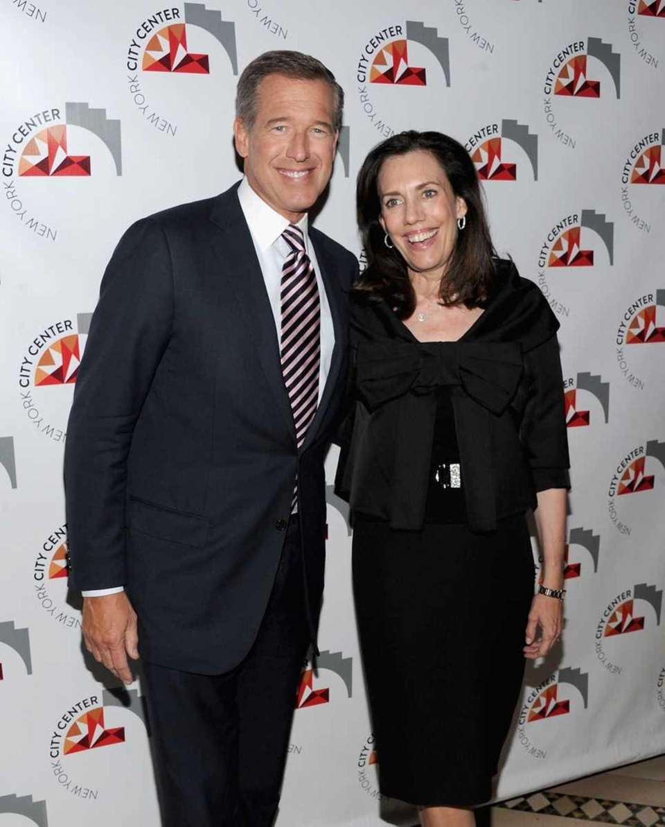 NBC anchor Brian Williams and his wife, Jane