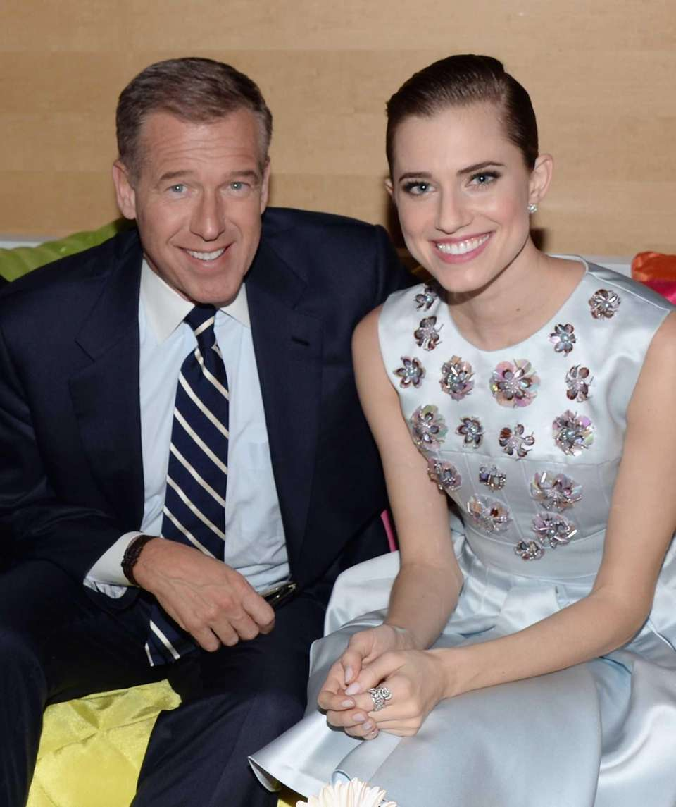 NBC anchor Brian Williams and his daughter, actress