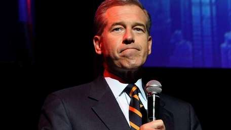 NBC anchor Brian Williams speaks at the Stand